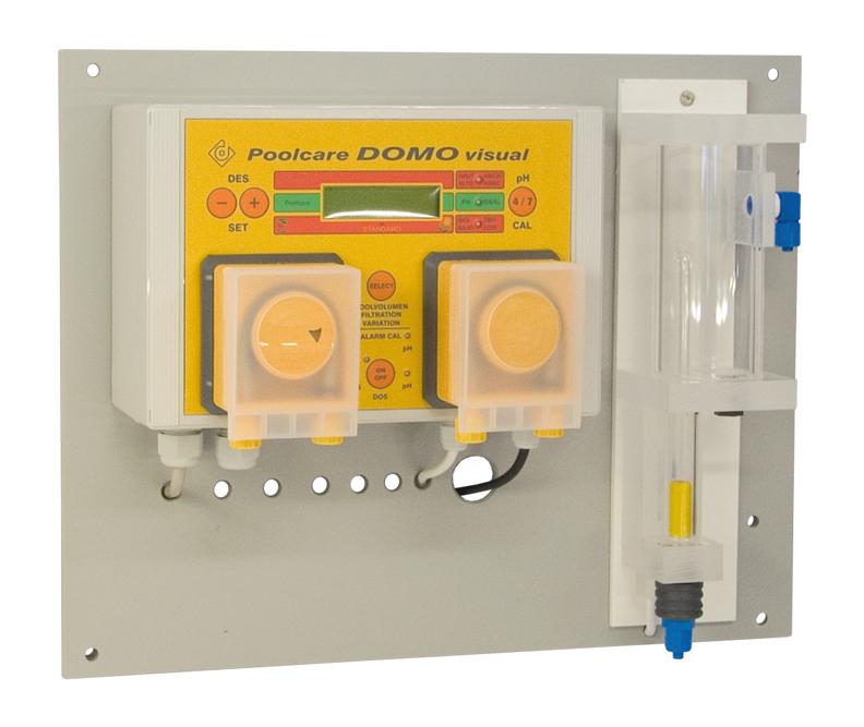 Automatizare instalatie masura si dozare oxigen activ si pH Poolcare Domo Visual